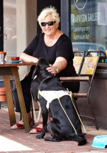 Penny with Guide Dog Robbie