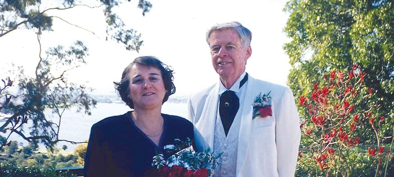 Sponsor Jean with husband Tom