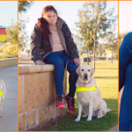 Montage of Denise with Guide Dog Ruby