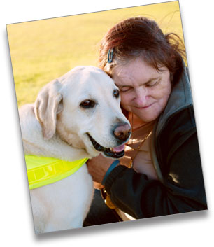 Denise with Guide Dog Ruby