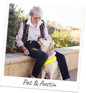 Guide Dog Owner Pat with Guide Dog Austin