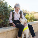 Pat with Guide Dog Austin