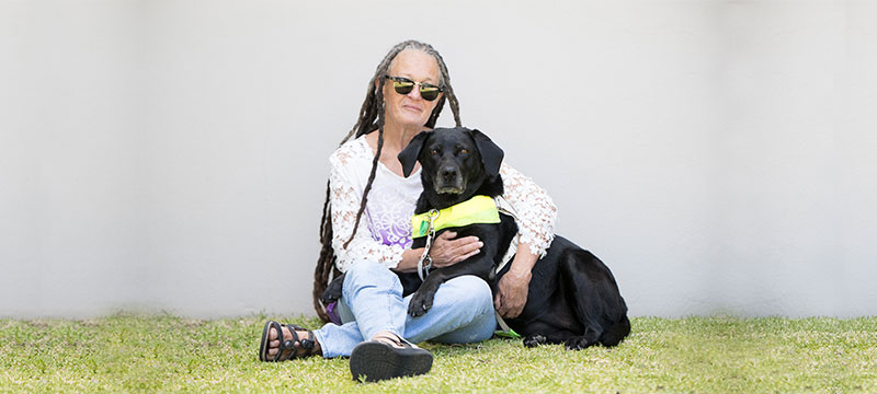 Wendy with Guide Dog Freya