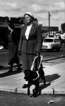 Elsie Mead with Guide Dog Beau