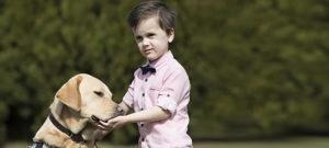 Fletcher with Autism Assistance Dog Koha