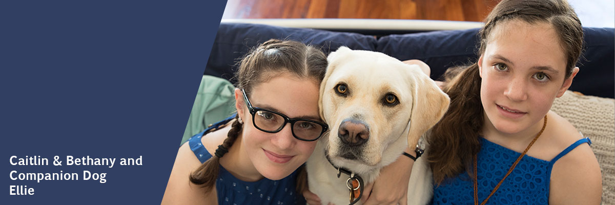Caitlin and Bethany and Companion Dog Ellie