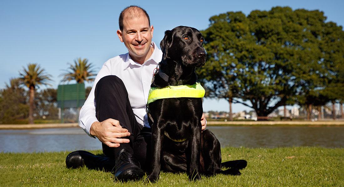Eric with Guide Dog Sundae
