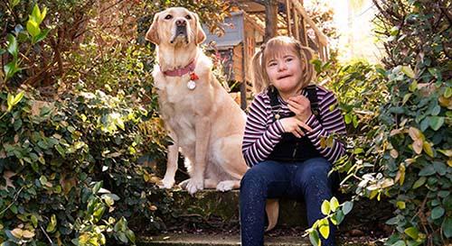 Beth and Companion Dog Margie