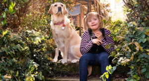 Beth and Companion Dog Margie