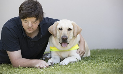 Brad with Guide Dog Jaxx