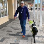 Serge with Guide Dog Winston