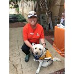 Volunteer Jackie with Ambassador Dog Maddy