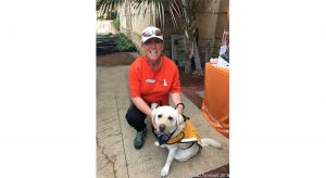 Volunteer Jackie with Ambassador Dog Maddy