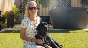 Image of Guide Dog Autumn with handler Tara
