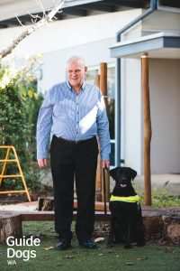 Gary and Guide Dog Terry