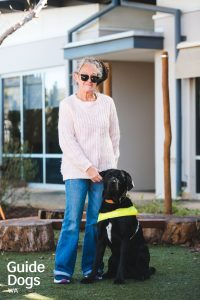 Wendy and Guide Dog Bentley