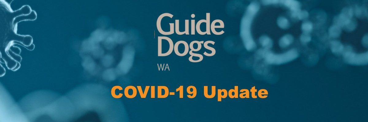 COVID-19 Update with Guide Dogs WA logo